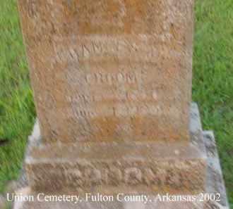 CROOM, FRANCES M. - Fulton County, Arkansas | FRANCES M. CROOM - Arkansas Gravestone Photos