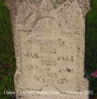 DANIEL, B. W. - Fulton County, Arkansas | B. W. DANIEL - Arkansas Gravestone Photos