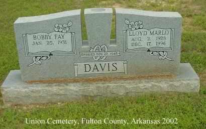 DAVIS, LLOYD MARLO - Fulton County, Arkansas | LLOYD MARLO DAVIS - Arkansas Gravestone Photos