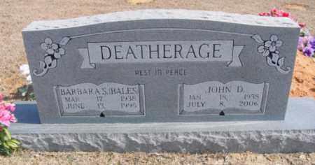 BALES DEATHERAGE, BARBARA S. - Fulton County, Arkansas | BARBARA S. BALES DEATHERAGE - Arkansas Gravestone Photos