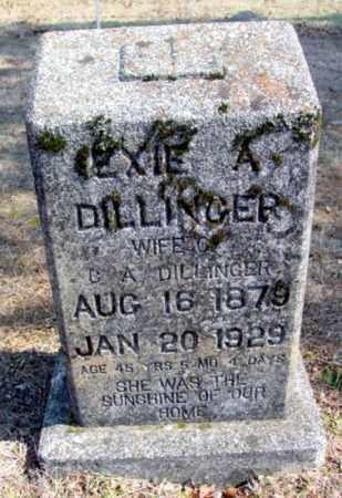 DILLINGER, EXIE A. - Fulton County, Arkansas | EXIE A. DILLINGER - Arkansas Gravestone Photos