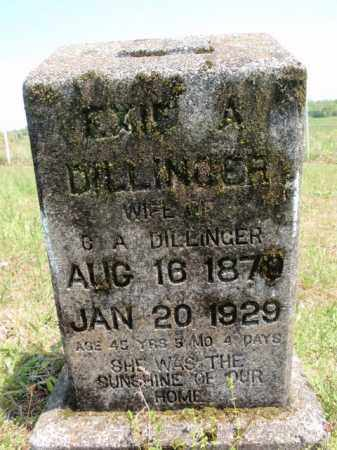 DILLINGER, EXIE A - Fulton County, Arkansas | EXIE A DILLINGER - Arkansas Gravestone Photos