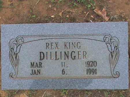 DILLINGER, REX KING - Fulton County, Arkansas   REX KING DILLINGER - Arkansas Gravestone Photos