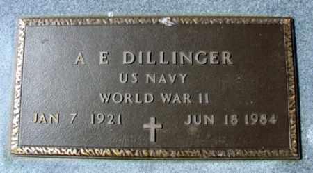 DILLINGER (VETERAN WWII), A E - Fulton County, Arkansas   A E DILLINGER (VETERAN WWII) - Arkansas Gravestone Photos