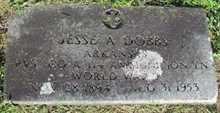 DOBBS  (VETERAN WWI), JESSE A - Fulton County, Arkansas | JESSE A DOBBS  (VETERAN WWI) - Arkansas Gravestone Photos
