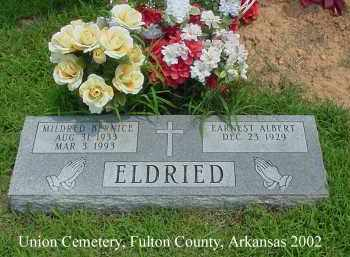 ELDRIED, MILDRED BERNICE - Fulton County, Arkansas | MILDRED BERNICE ELDRIED - Arkansas Gravestone Photos