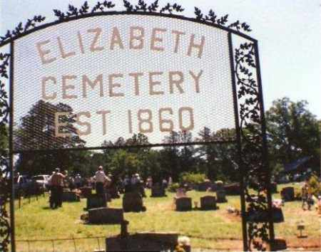 *ELIZABETH CEMETERY SIGN,  - Fulton County, Arkansas |  *ELIZABETH CEMETERY SIGN - Arkansas Gravestone Photos