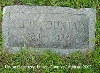 FOUNTAIN, OMOR - Fulton County, Arkansas | OMOR FOUNTAIN - Arkansas Gravestone Photos
