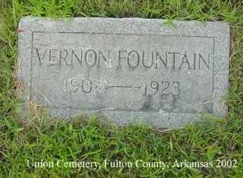 FOUNTAIN, VERNON - Fulton County, Arkansas | VERNON FOUNTAIN - Arkansas Gravestone Photos
