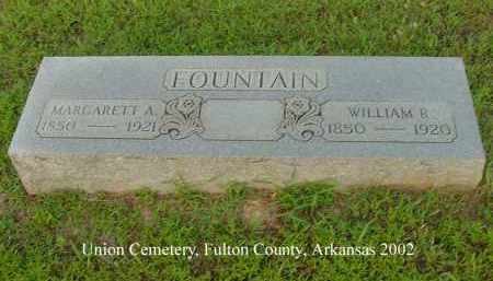 FOUNTAIN, WILLIAM R. - Fulton County, Arkansas | WILLIAM R. FOUNTAIN - Arkansas Gravestone Photos
