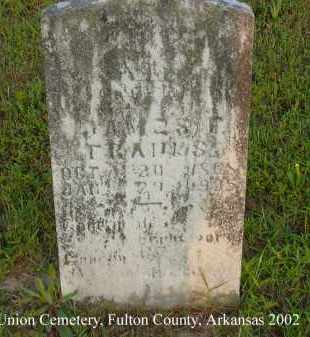 FRANKS, JAMES FRANKLIN - Fulton County, Arkansas | JAMES FRANKLIN FRANKS - Arkansas Gravestone Photos