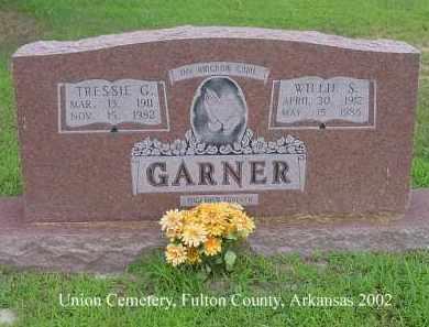 GARNER, WILLIE S. - Fulton County, Arkansas | WILLIE S. GARNER - Arkansas Gravestone Photos