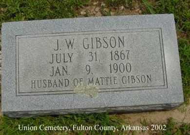 GIBSON, J. W. - Fulton County, Arkansas | J. W. GIBSON - Arkansas Gravestone Photos
