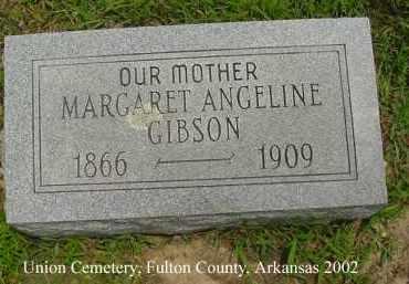 FITZHUGH GIBSON, MARGARET ANGELINE - Fulton County, Arkansas   MARGARET ANGELINE FITZHUGH GIBSON - Arkansas Gravestone Photos