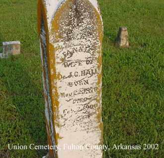 HALL, FANNIE - Fulton County, Arkansas | FANNIE HALL - Arkansas Gravestone Photos