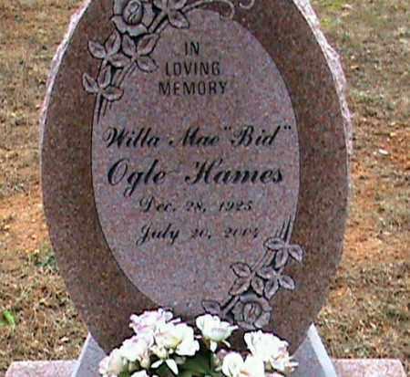 "OGLE HAMES, WILLA MAE ""BID"" - Fulton County, Arkansas | WILLA MAE ""BID"" OGLE HAMES - Arkansas Gravestone Photos"