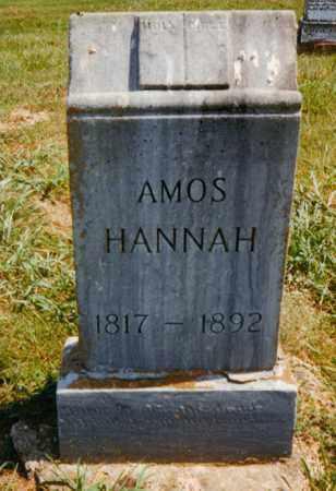 HANNAH, AMOS - Fulton County, Arkansas | AMOS HANNAH - Arkansas Gravestone Photos