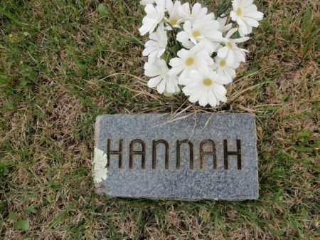 HANNAH, UNKNOWN - Fulton County, Arkansas | UNKNOWN HANNAH - Arkansas Gravestone Photos