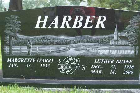 HARBER, LUTHER DUANE - Fulton County, Arkansas | LUTHER DUANE HARBER - Arkansas Gravestone Photos