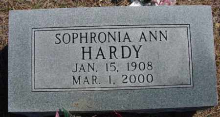HARDY, SOPHRONIA ANN - Fulton County, Arkansas | SOPHRONIA ANN HARDY - Arkansas Gravestone Photos