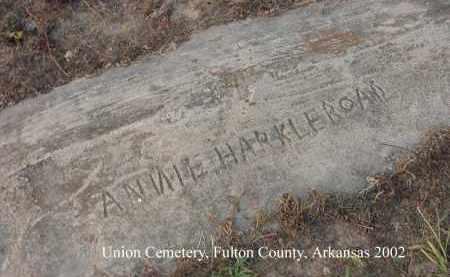HARKLEROAD, ANNIE - Fulton County, Arkansas   ANNIE HARKLEROAD - Arkansas Gravestone Photos