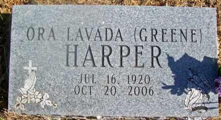 GREENE HARPER, ORA LAVADA - Fulton County, Arkansas | ORA LAVADA GREENE HARPER - Arkansas Gravestone Photos