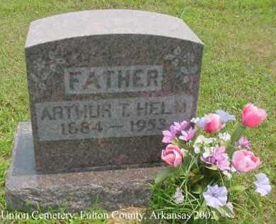 HELM, ARTHUR TRAVIS - Fulton County, Arkansas | ARTHUR TRAVIS HELM - Arkansas Gravestone Photos