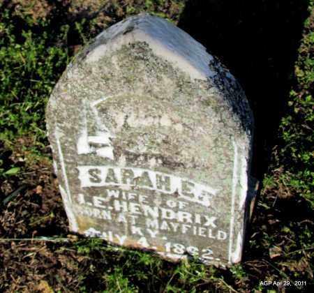 HENDRIX, SARAH E - Fulton County, Arkansas | SARAH E HENDRIX - Arkansas Gravestone Photos
