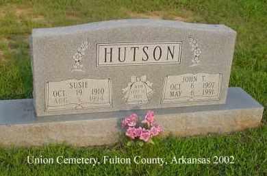 HUTSON, JOHN T. - Fulton County, Arkansas   JOHN T. HUTSON - Arkansas Gravestone Photos