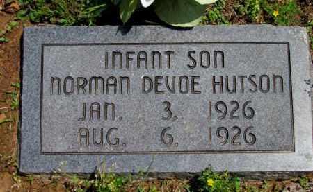 HUTSON, NORMAN DEVOE - Fulton County, Arkansas | NORMAN DEVOE HUTSON - Arkansas Gravestone Photos