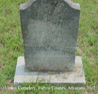 JACOBS, HERSHAL - Fulton County, Arkansas | HERSHAL JACOBS - Arkansas Gravestone Photos