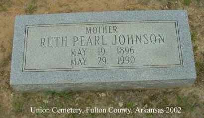 JOHNSON, RUTH PEARL - Fulton County, Arkansas | RUTH PEARL JOHNSON - Arkansas Gravestone Photos