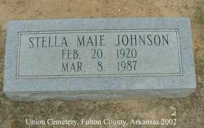 JOHNSON, STELLA MAIE - Fulton County, Arkansas | STELLA MAIE JOHNSON - Arkansas Gravestone Photos