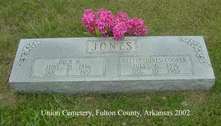 JONES, JOHN W. - Fulton County, Arkansas | JOHN W. JONES - Arkansas Gravestone Photos