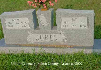 JONES, SAM - Fulton County, Arkansas   SAM JONES - Arkansas Gravestone Photos