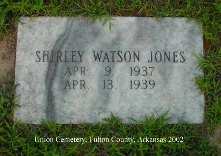 JONES, SHIRLEY WATSON - Fulton County, Arkansas | SHIRLEY WATSON JONES - Arkansas Gravestone Photos