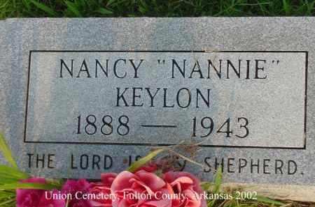 """KEYLON, NANCY D. """"NANNIE"""" - Fulton County, Arkansas   NANCY D. """"NANNIE"""" KEYLON - Arkansas Gravestone Photos"""