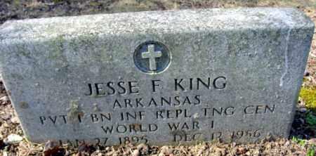 KING (VETERAN WWI), JESSE F - Fulton County, Arkansas   JESSE F KING (VETERAN WWI) - Arkansas Gravestone Photos