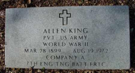 KING (VETERAN WWII), ALLEN - Fulton County, Arkansas | ALLEN KING (VETERAN WWII) - Arkansas Gravestone Photos