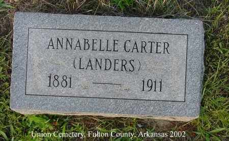 "CARTER LANDERS, ANNABELLE ""BELLE"" - Fulton County, Arkansas | ANNABELLE ""BELLE"" CARTER LANDERS - Arkansas Gravestone Photos"