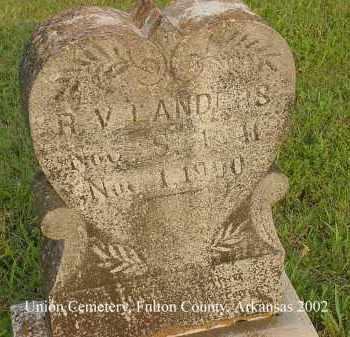 LANDERS, ROBERT V. - Fulton County, Arkansas | ROBERT V. LANDERS - Arkansas Gravestone Photos