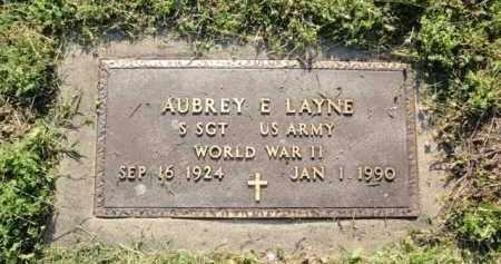 LAYNE  (VETERAN WWII), AUBREY E - Fulton County, Arkansas | AUBREY E LAYNE  (VETERAN WWII) - Arkansas Gravestone Photos