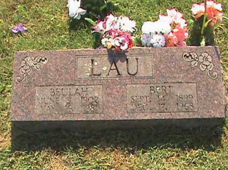 LAU, BERT - Fulton County, Arkansas | BERT LAU - Arkansas Gravestone Photos
