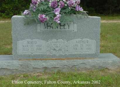 MANLEY, ARTHUR - Fulton County, Arkansas | ARTHUR MANLEY - Arkansas Gravestone Photos