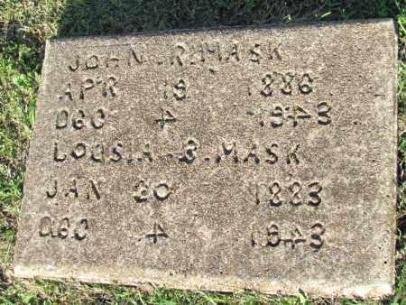 MASK, LOUSIA B (ORIGINAL STONE) - Fulton County, Arkansas | LOUSIA B (ORIGINAL STONE) MASK - Arkansas Gravestone Photos