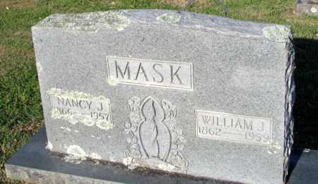 MASK, WILLIAM J - Fulton County, Arkansas   WILLIAM J MASK - Arkansas Gravestone Photos