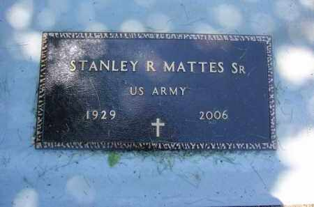 MATTES, SR  (VETERAN), STANLEY R - Fulton County, Arkansas | STANLEY R MATTES, SR  (VETERAN) - Arkansas Gravestone Photos