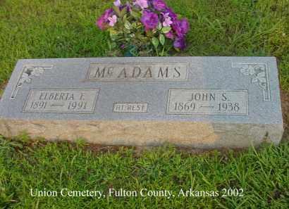 MC ADAMS, JOHN S. - Fulton County, Arkansas | JOHN S. MC ADAMS - Arkansas Gravestone Photos