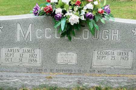 MC CULLOUGH, ARLIN - Fulton County, Arkansas | ARLIN MC CULLOUGH - Arkansas Gravestone Photos
