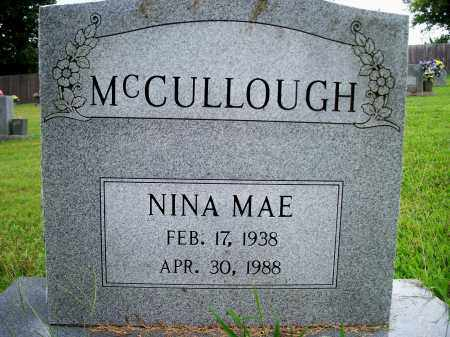 MC CULLOUGH, NINA MAE - Fulton County, Arkansas | NINA MAE MC CULLOUGH - Arkansas Gravestone Photos